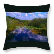 Reflecting In The Glades Throw Pillow