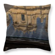 Reflecting On Noto And The Beautiful Sicilian Baroque Style Throw Pillow