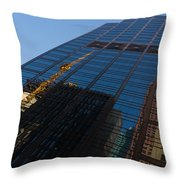 Reflecting On Skyscrapers - Downtown Atmosphere Throw Pillow