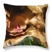 Reflecting On The Surface 1 Throw Pillow