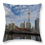 Reflecting On Toronto And Harbourfront  Throw Pillow