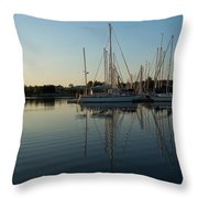 Reflecting On Yachts - Hot Summer Afternoon Mirror Throw Pillow