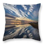 Reflecting Sunset Throw Pillow