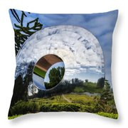 Reflecting The Countryside Throw Pillow
