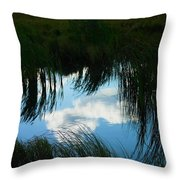 Reflecting The Grass Throw Pillow