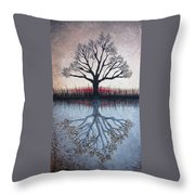 Reflecting Tree Throw Pillow
