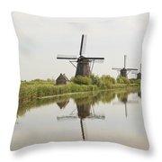 Reflecting Windmills Throw Pillow