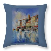 Reflection  -  St.tropez - France Throw Pillow