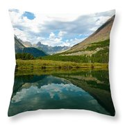 Reflection At Glacier National Park Throw Pillow