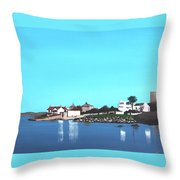 Reflections At Sandycove Throw Pillow