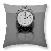 Reflection Clock Throw Pillow
