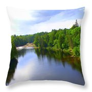 Reflection In Beaupre Quebec Throw Pillow