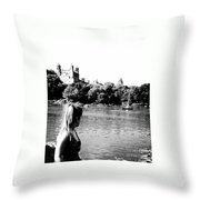 Reflection In Black And White Throw Pillow