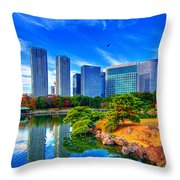 Reflection In Blues Throw Pillow