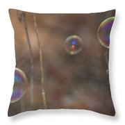Reflection In Bubbles Throw Pillow