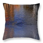 Reflection In Canal Throw Pillow
