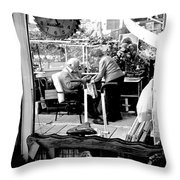 Reflection Into The Future - Retired In My Haven Throw Pillow