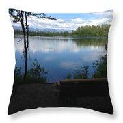 Reflection Lake Trail Throw Pillow