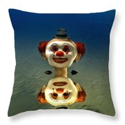 Reflection Of A Clown Throw Pillow