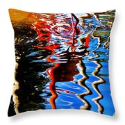 Reflection Of A Flamingo 1 Throw Pillow
