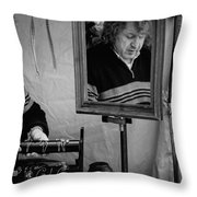 Reflection Of A Man Throw Pillow