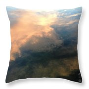 Reflection Of Clouds Throw Pillow