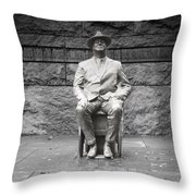 Reflection Of Fdr Throw Pillow