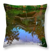 Reflection Of House On Water Throw Pillow