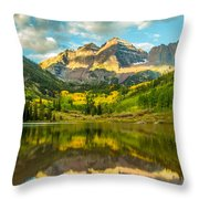 Reflection Of Maroon Bells Throw Pillow