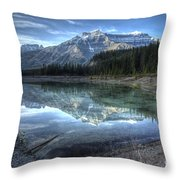 Reflection Of Mount Amery At Graveyard Flats Throw Pillow by Brian Stamm