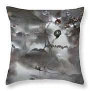 Reflection Of Raindrops In A Puddle Throw Pillow
