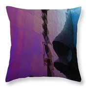 Reflection Of Seattle Space Needle Throw Pillow
