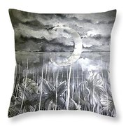 Reflection Of The Crescent Throw Pillow