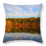 Reflection Of The Fall Throw Pillow