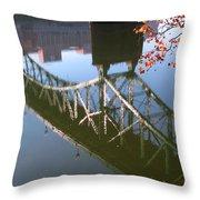 Reflection Of The Gay Street Bridge Throw Pillow