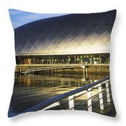 Reflection Of The Glasgow Science Throw Pillow