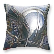 Reflection Of The Marching Band Throw Pillow