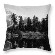 Reflection Of Trees And Mountains Throw Pillow