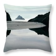 Reflection On Bixby Beach Big Sur California By Pat Hathaway Throw Pillow