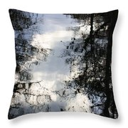 Reflection On Sweet Water Strand Throw Pillow