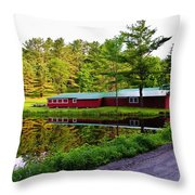 Reflection On The Pond Throw Pillow