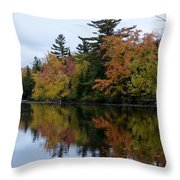 Reflection On The Raquette River Throw Pillow