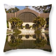Reflection/lily Pond, Balboa Park, San Diego, California Throw Pillow