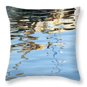 Reflections - White Throw Pillow