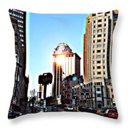 Reflections About Boston Throw Pillow