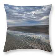 Reflections At Low Tide Throw Pillow