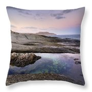 Reflections At Plomo Beach Throw Pillow