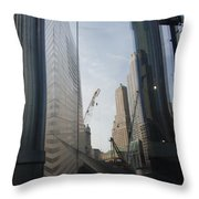Reflections At The 9/11 Museum Throw Pillow