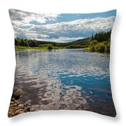 Reflections At The Green Bridge Throw Pillow