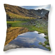 Reflections At The Mountain Lake Throw Pillow